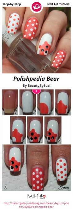 Polishpedia Bear by BeautyBySuzi - Nail Art Gallery Step-by-Step Tutorials nailartgallery.nailsmag.com by Nails Magazine www.nailsmag.com #nailart