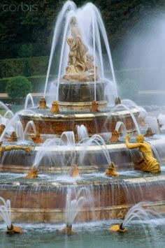 Fountain at Chateau de Versailles, France www.fountainsdallas.com