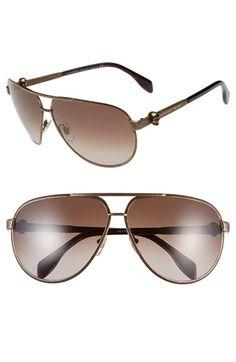 1fc723aca91e6 Alexander McQueen 65mm Skull Temple Metal Aviator Sunglasses available at   Nordstrom Óculos De Aviador,