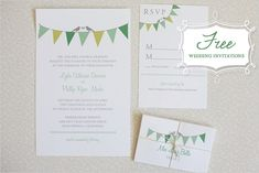 #Free Printable Download, #Free, DIY, Do It Yourself, Bunting Invitation Suite, bunting, invitation, print, printable, templates, download, customize, custom, $0