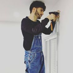 Bib Overalls, Dungarees, Herren Outfit, Work Wear, Guys, Pants, Outfits, Fashion, Fashion Styles