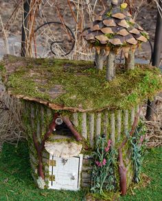 Fairy House with Furniture and (click for more pics) Love This!