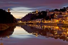 Clifton Suspension Bridge, Bristol at Twlight.