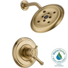 Delta Cassidy 1-Handle Shower Only Faucet Trim Kit in Champagne Bronze (Valve Not Included)-T17297-CZ - The Home Depot