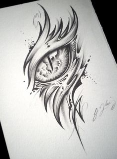 Dragon Eye Tattoo (Alpha) by J-Kings-Art