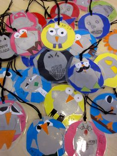 Owls and friends Diy For Kids, Crafts For Kids, Arts And Crafts, Bike Decorations, Bike Craft, Crafty Kids, Diy Projects To Try, Craft Activities, School Projects