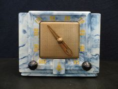 Vintage 1950 Emerson Eames Era Old Bakelite Tube Clockette Radio Panton Kartel | eBay
