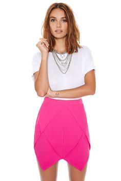 BrytCouture - Chic Origami Layer Fuchsia Skirt, US$38.00 (http://www.brytcouture.com/chic-origami-layer-fuchsia-skirt/)