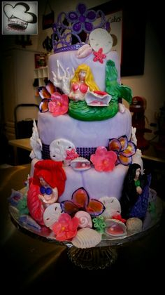 Mermaid cake by care 4 cakes