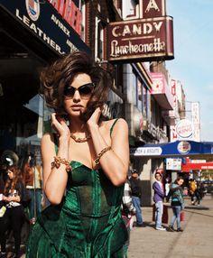 "Bazaar Magazine spread ""Flirty Fifties"" : Miranda Kerr. Photographed by Terry Richardson. Fashion Editor: Brana Wolf."