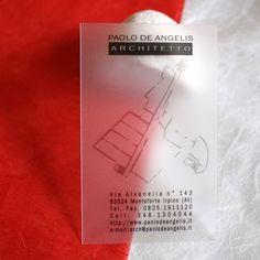 Translucent Plastic Business Cards Architect