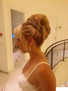 African American. Black Bride. Wedding Hair. Natural Hairstyles. Retro 60's style bridal hair