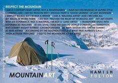 """Hamish Fulton (United Kingdom), """"Mountain walk"""", 7 days walking, East of Glarus, Switzerland, 1995."""