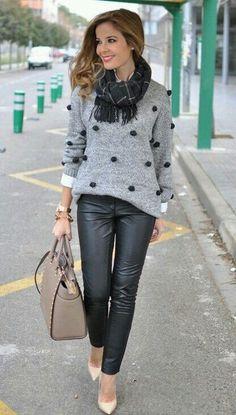 Новый 2015 зимний стиль свободного покроя горячая распродажа девушки свитер точка полный рукав о образным шею пуловеры стандартный свитер купить на AliExpress