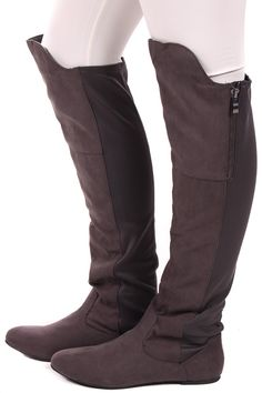 Lime Lush Boutique - Charcoal Suede Tall Stretch Boot, $54.99 (http://www.limelush.com/charcoal-suede-tall-stretch-boot/)