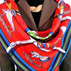 Authentic Vintage Hermes Silk Scarf, Couvertures et Tenue du Jour Red by CarredeParis on Etsy https://www.etsy.com/listing/255411043/authentic-vintage-hermes-silk-scarf