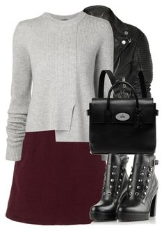 """""""Untitled #2594"""" by elenaday ❤ liked on Polyvore featuring Burberry, Topshop, Proenza Schouler, Mulberry and Diesel"""