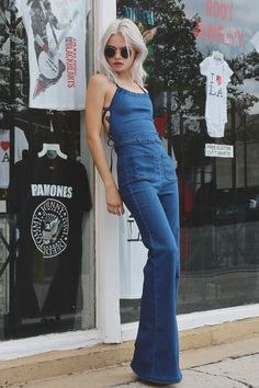 PYLO LADY BIRD DENIM JUMPER IN PENNYLANE - PYLO