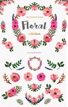FREE! This is set of 14 high quality hand painted watercolor flowers. Perfect graphic for wedding invitations, greeting cards, photos, posters, quotes and more.