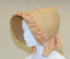 Bonnet Date: 19th century Culture: American Medium: straw