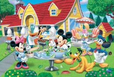 "Amazon.com - Wm-663 Mickey Mouse, Minnie Mouse, Donald Duck, Daisy Duck, Pluto, Super Goof Wall Decoration Cartoon, Comic Poster#25 Size 24""..."