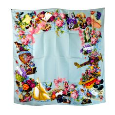 Gorgeous Gucci Floral Victorian-Style Silk Scarf | From a collection of rare vintage scarves at http://www.1stdibs.com/fashion/accessories/scarves/