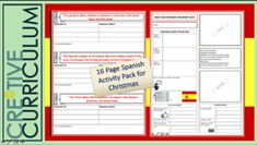 Spanish Activities Pack by Resources Spanish Teaching Resources, Spanish Activities, Teacher Resources, Christmas In Spain, Types Of Learners, Student Engagement, Christmas Activities, High School Students, Teamwork