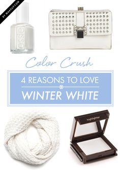 4 ways to wear winter white // #makeup must have
