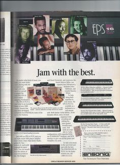 Ensoniq EPS16 advertisement