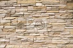 Papier peint Stacked pierre mur arrière-plan horizontal