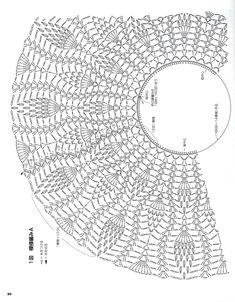 Crochet Collar Pattern, Crochet Shawl Diagram, Crochet Lace Edging, Crochet Tunic, Top Pattern, Japanese Crochet Patterns, Crochet Book Cover, Diy Crafts Crochet, Crochet Projects