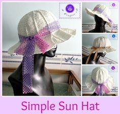 Crochet simple sun hat - Maz Kwok's Designs