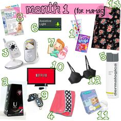 1st month must haves for mamas.