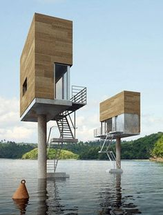 stilt houses - unusual ..., I don't know if I would like to stay in one !