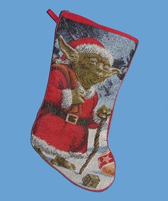 Look at this Yoda Tapestry Stocking on #zulily today! Star Wars Christmas