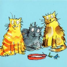 Quentin Blake Cat Notecards - Pack of 5