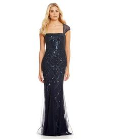 Shop for Adrianna Papell Cap-Sleeve Bead Gown at Dillards.com. Visit Dillards.com to find clothing, accessories, shoes, cosmetics & more. The Style of Your Life.