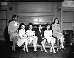 African American College Queen Contestants    Howard University queen contestants sitting on a couch. ca 1947. Addison Scurlock, photographer.    Source: Scurlock Studio Records, Archives Center, National Museum of American History, Smithsonian Institution    Vintage African American photography courtesy of Black History Album, The Way We Were.