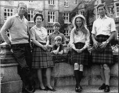 The Duke of Edinburgh, Queen Elizabeth II, Prince Andrew, Prince Edward, Princess Anne, and Prince Charles, 1972.