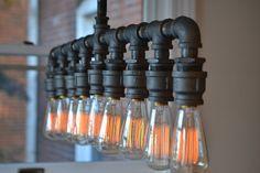 Lighting  Industrial Lighting  Steampunk Light by WestNinthVintage