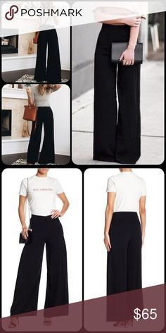 """Endless Rose Wide Leg Slacks Chic pleat details highlight the wide leg cut of these slacks for an on-trend look.  Fit: this style fits true to size.  - Zip fly with hook-and-bar closure - 2 back nonfunctional welt pockets - Lined - Inverted pleated details - Wide leg  - Approx. 12"""" rise, 31"""" inseam Imported  Fiber Content Shell/Lining: 100% polyester Endless Rose Pants Wide Leg"""