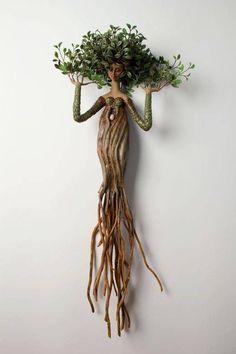 für den Garten im Freien - Jardin Miniature Idee - Best Pins Diy And Crafts, Arts And Crafts, Deco Nature, Driftwood Crafts, Paperclay, Tree Art, Clay Art, Garden Art, Garden Ideas