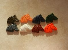 Recycled Crayon Party Favor  Horse 8 count by ScribblemeMine, $5.00