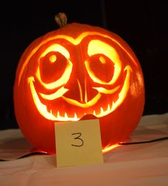 Halloween -- WHY U NO COME SOONER!? An entry from the AAA National Pumpkin Carving contest.