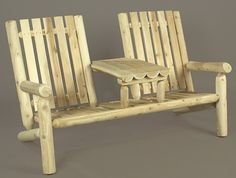61 Natural Cedar Log Style Outdoor Wooden Two-Person Arm Chair, Brown, Patio Furniture Cedar Furniture, Rustic Furniture, Garden Furniture, Furniture Sets, Outdoor Furniture, Garden Chairs, Porch Furniture, Western Furniture, Furniture Design