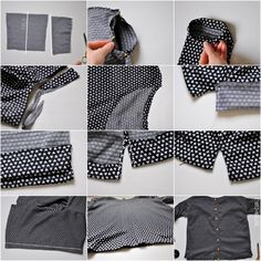 C: Boxy top tutorial with buttons up the back