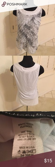 Gorgeous Layered Blouse Size L, very cute! Lightweight and has some stretch Brittany Black Tops Blouses
