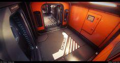 ArtStation - Star Citizen...The Starfarer: EVA 'Orange' Airlock area, Matthew Trevelyan Johns