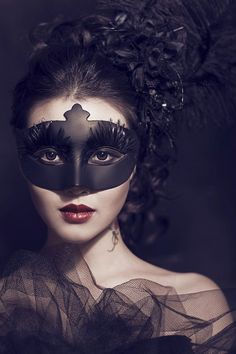 Great lighting, gothic, mask, fabric, and hair/makeup ideas