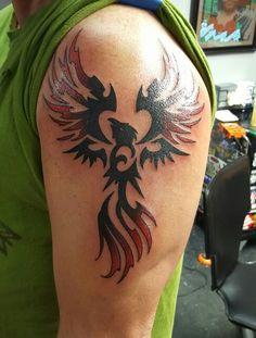 Ph nix ph nix schulter und tattoos schulter for Tattoo shops in annapolis